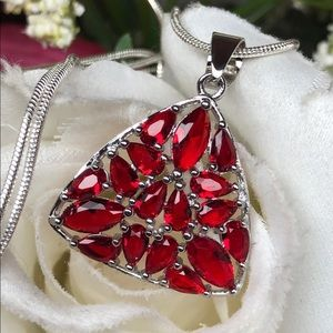 Jewelry - New! Ruby/925 sterling silver necklace/pendant